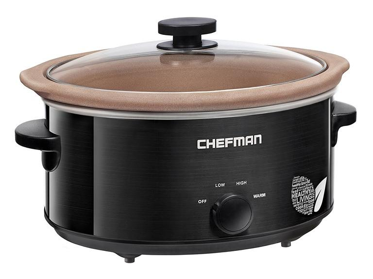 Chefman 5-Qt. Slow Cooker with Natural Stoneware Crock